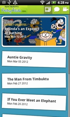 Poetry4kids Android App