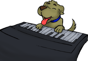 my-puppy-plays-piano