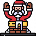 Santa Got Stuck in the Chimney by Kenn Nesbitt