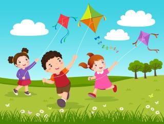Let's Fly a Kite nursery rhyme